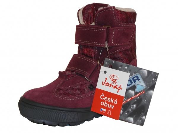 1d893ee2ea6ab Jonap - J024/S vínová, 02 dívčí zimní obuv s membránou | Dětská obuv ...