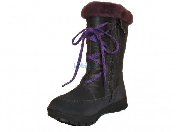 801e02c5c Protetika - Reta grey, dívčí zimní kozačky | Dětská obuv | zimní ...