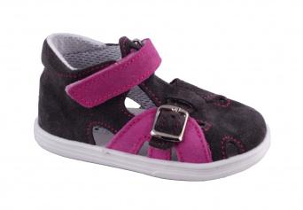 Zvětšit Jonap - J009/S šedá/růžová, letní boty