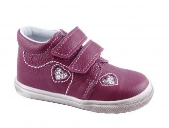 Zvětšit Jonap J022/M/V srdce vínová, dětská celoroční obuv