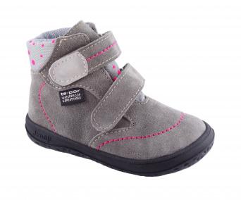 Zvětšit Jonap J-B3/V/S šedá puntík, dětská celoroční obuv s membránou