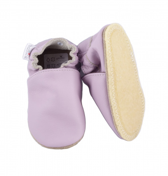 Zvětšit BABICE kožené capáčky - BA-143 lilac SAFESTEP, 01