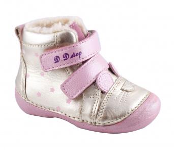 Zvětšit D.D.Step - 015-190 champagne, dívčí zimní obuv