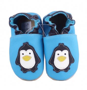 Zvětšit BABICE kožené capáčky - tučňák BA-079