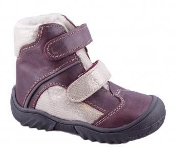 Zvětšit Jonap - J055/M vínová/třpyt, dívčí zimní obuv