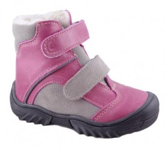 Zvětšit Jonap - J055/M růžová/šedá, dívčí zimní obuv