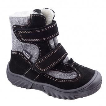 Zvětšit Jonap - J024/S černá/šedá, 01 chlapecká zimní obuv s membránou