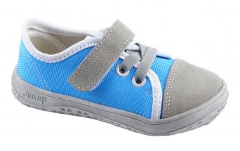 Zvětšit Jonap J-B15 -Airy šedá/tyrkys, celoroční obuv BAREFOOT