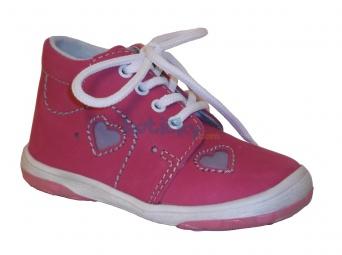 Zvětšit Jonap J022/N růžová srdce, 01 dětská celoroční obuv