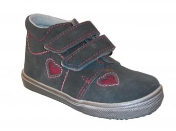 Zvětšit Jonap J022/S/V srdce šedá, dětská celoroční obuv