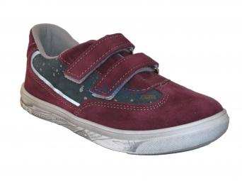 Zvětšit Jonap J023/S vínová/šedá, dětská celoroční obuv