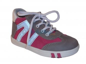 Zvětšit Jonap J014/M šedá/růžová, dětská celoroční obuv