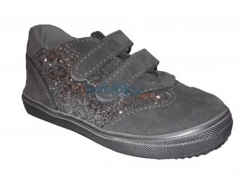 Zvětšit Jonap J053/S šedá třpyt, dětská celoroční obuv