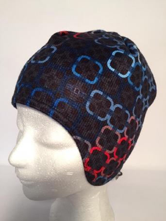 Zvětšit RDX čepice 3485 černá-červená, chlapecká zimní čepice