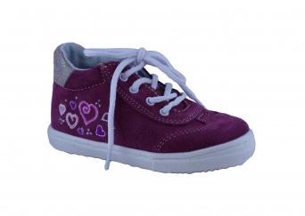 Zvětšit Jonap J011/S srdce - vínová, dětská celoroční obuv