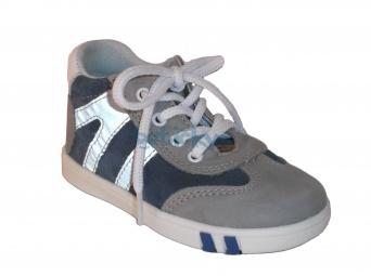 Zvětšit Jonap J014/M šedá/modrá, dětská celoroční obuv