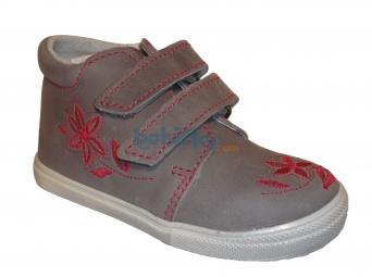 Zvětšit Jonap J022/M/V květ šedá, dětská celoroční obuv