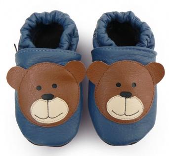 Zvětšit AFELO kožené capáčky - medvídek modrý