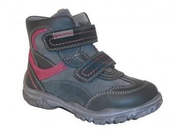 Zvětšit Protetika - Tarly grey/fuxia, dívčí zimní obuv