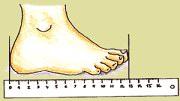 Měření dělky nohy - dětská obuv