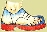 správně padnoucí obuv